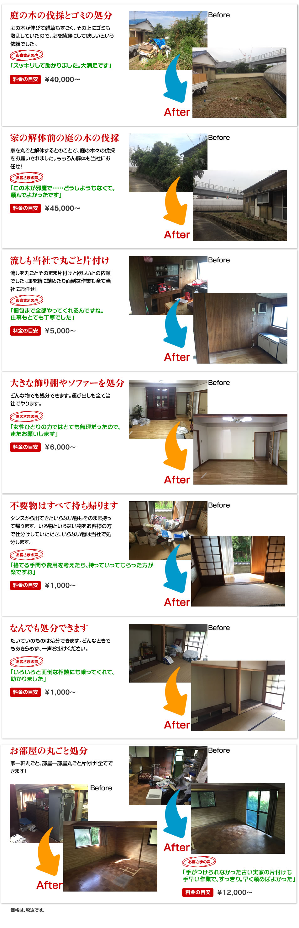 片付けのプロ、アシスト(北九州)の作業事例